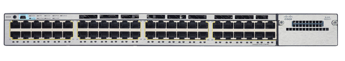 Cisco 48 Port 10/100/1000 Managed Network Switch WS-C3750X-48T-L